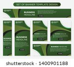 set of promotion kit banner...   Shutterstock .eps vector #1400901188