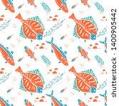 flounder seamless pattern in... | Shutterstock . vector #1400905442