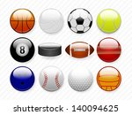 sports balls | Shutterstock .eps vector #140094625