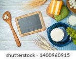 milk and dairy products on... | Shutterstock . vector #1400960915