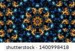 Blue Abstract Kaleidoscope...