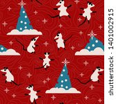 christmas seamless pattern with ...   Shutterstock .eps vector #1401002915