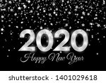 2020 happy new year. silver... | Shutterstock . vector #1401029618