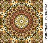seamless tracery tile mehndi...   Shutterstock .eps vector #1401036965