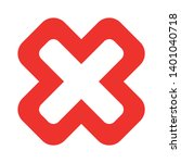 wrong mark vector icon. reject... | Shutterstock .eps vector #1401040718