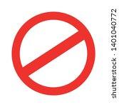 access denied prohibition... | Shutterstock .eps vector #1401040772