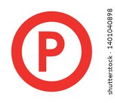 parking location pin vector... | Shutterstock .eps vector #1401040898