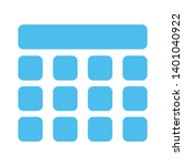 thumbnails grid sign icon.... | Shutterstock .eps vector #1401040922