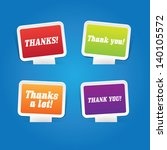 set of thank you labels | Shutterstock .eps vector #140105572