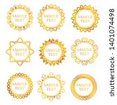 vintage decoration collection.... | Shutterstock .eps vector #1401074498