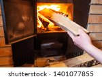 sauna stove  firewood and fire... | Shutterstock . vector #1401077855