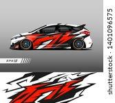 racing car wrap design vector.... | Shutterstock .eps vector #1401096575