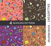 memphis seamless pattern 80's... | Shutterstock .eps vector #1401097745
