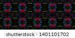tibetan pattern. vintage shawl... | Shutterstock . vector #1401101702