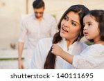 portrait of mother and daughter ... | Shutterstock . vector #140111695