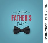 happy fathers day background.... | Shutterstock .eps vector #1401120782