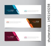 vector abstract banner design... | Shutterstock .eps vector #1401143258