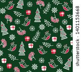 winter new year pattern with...   Shutterstock .eps vector #1401153668