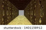 abstract tunnel with perforated ... | Shutterstock . vector #1401158912