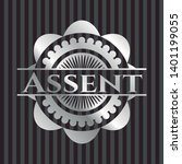 assent silvery badge. vector... | Shutterstock .eps vector #1401199055