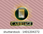 gold badge or emblem with... | Shutterstock .eps vector #1401204272