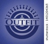 outfit badge with denim texture.... | Shutterstock .eps vector #1401204365