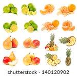 set of pear  pineapple ... | Shutterstock . vector #140120902