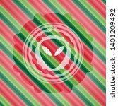 alien icon inside christmas...   Shutterstock .eps vector #1401209492