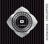 video player icon inside silver ... | Shutterstock .eps vector #1401209552
