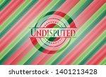 undisputed christmas badge....   Shutterstock .eps vector #1401213428