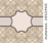 vintage vector abstract flower... | Shutterstock .eps vector #1401219425