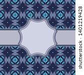 vintage vector abstract flower... | Shutterstock .eps vector #1401219428