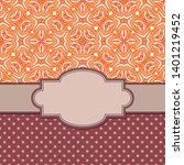 vintage vector abstract flower... | Shutterstock .eps vector #1401219452
