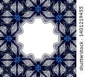 vintage vector abstract flower... | Shutterstock .eps vector #1401219455