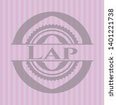 lap badge with pink background. ... | Shutterstock .eps vector #1401221738