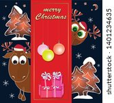 merry christmas greeting card...   Shutterstock .eps vector #1401234635