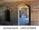 View Through A Series Of Arched ...