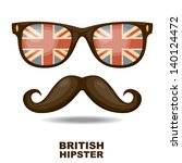 sunglasses and mustaches.... | Shutterstock .eps vector #140124472