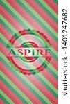 aspire christmas style badge....   Shutterstock .eps vector #1401247682