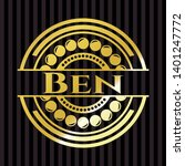 ben golden badge. vector... | Shutterstock .eps vector #1401247772