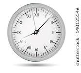 silver watch vector illustration | Shutterstock .eps vector #140125546