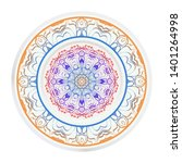 round decoration frame and... | Shutterstock .eps vector #1401264998
