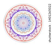 round decoration frame and... | Shutterstock .eps vector #1401265022