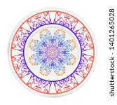 round decoration frame and... | Shutterstock .eps vector #1401265028