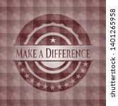 make a difference red polygonal ... | Shutterstock .eps vector #1401265958
