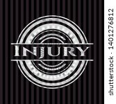 injury silvery badge. vector... | Shutterstock .eps vector #1401276812