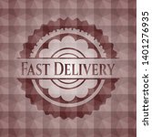 fast delivery red geometric... | Shutterstock .eps vector #1401276935