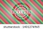 occupied christmas emblem...   Shutterstock .eps vector #1401276965