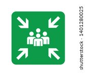 assembly point signs symbol... | Shutterstock .eps vector #1401280025