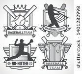 baseball badges in black and... | Shutterstock .eps vector #1401282998